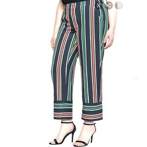 Eloquii Striped Crop Pant NWT Size 14